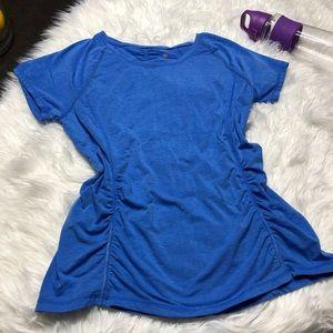 Tangerine blue running tee